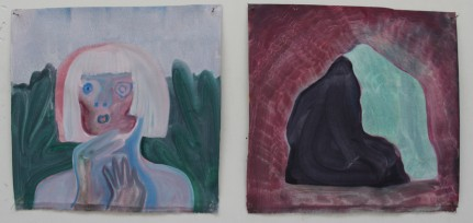 untitled. oil on canvas. each are 34 x 36 cm